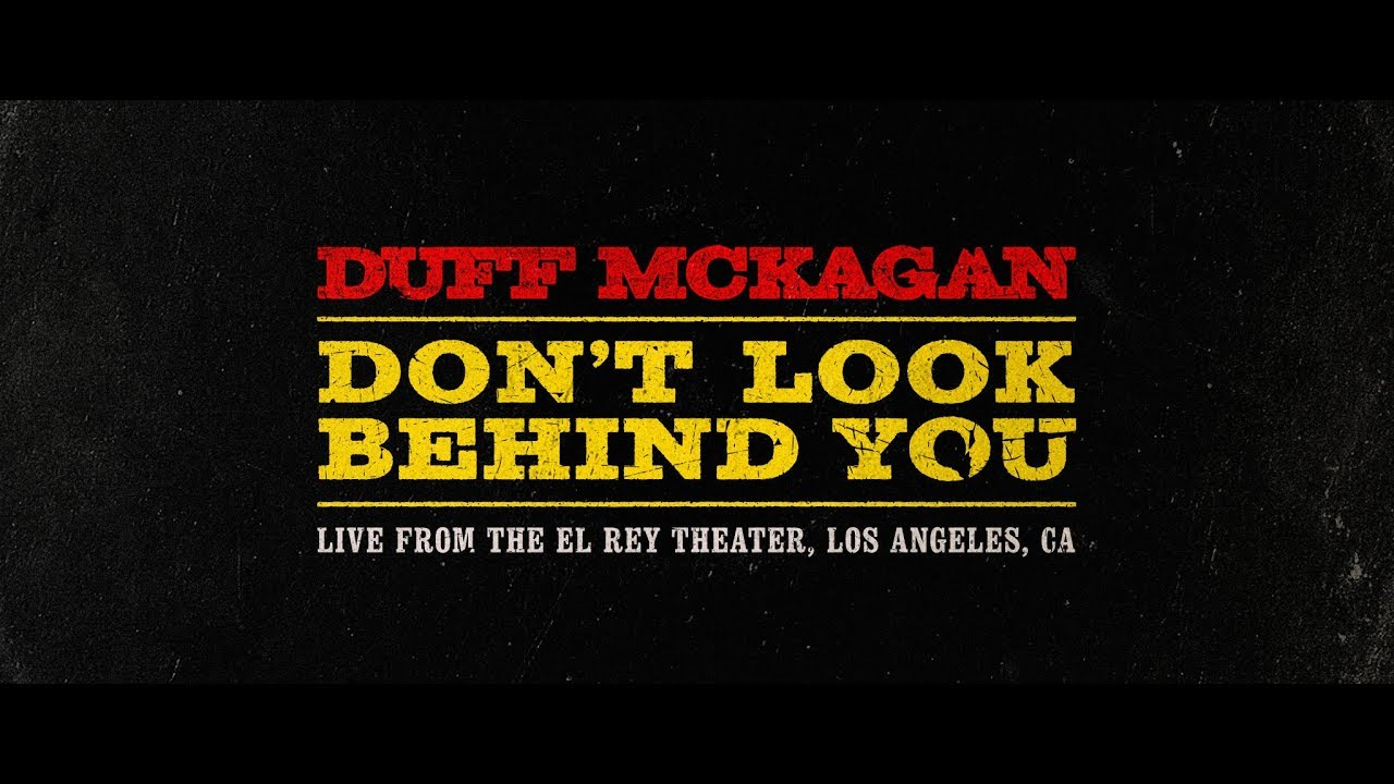 """Duff McKagan – """"Don't Look Behind You"""" live video"""