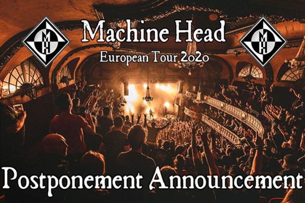 Machine Head-turneu 2020
